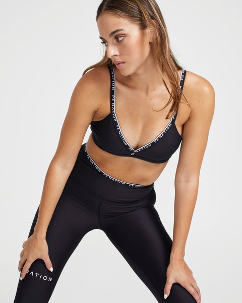 Power Play Sports Bra in Black - Prae Store