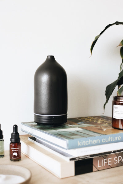 Ceramic Oil Diffuser - Black - Prae Store