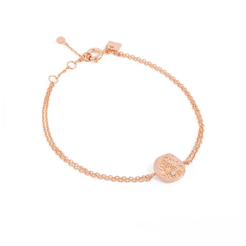 Rose Gold Blessed Lotus Bracelet