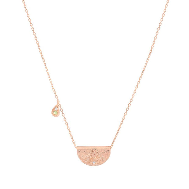 Rose Gold Protect Your Heart Necklace - August