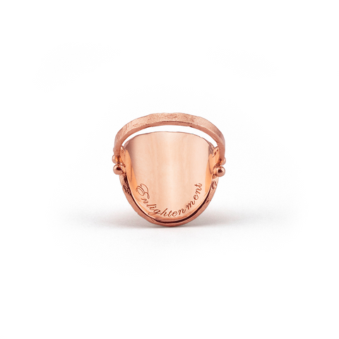Large Lotus Rising Ring - Rose Gold - Prae Store