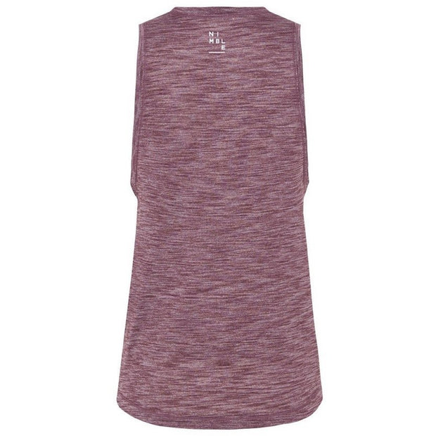 Train Harder II TANK - Heather Raisin
