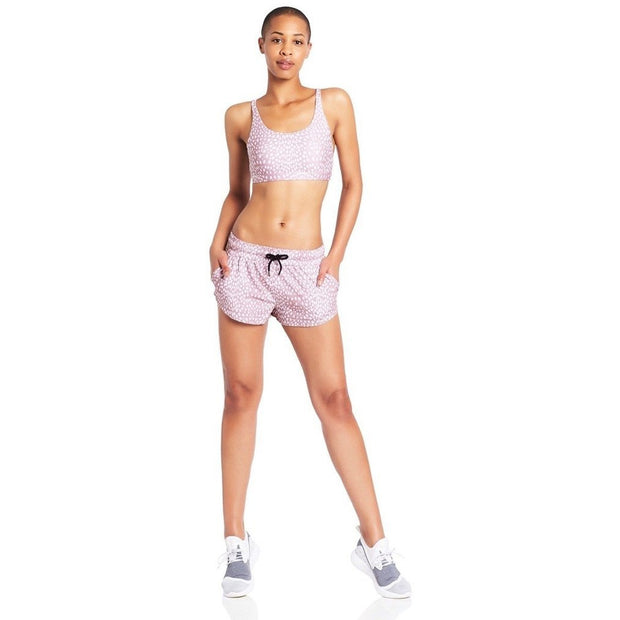 Endurance Woven Run Short - Blush Cheetah