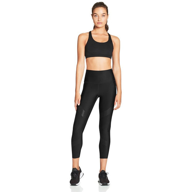 Linear High Rise 7/8 Workout Leggings - Black