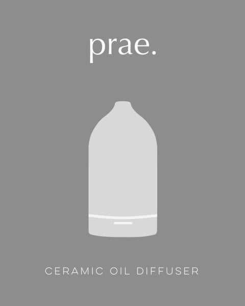 Ceramic Oil Diffuser - White - Prae Store