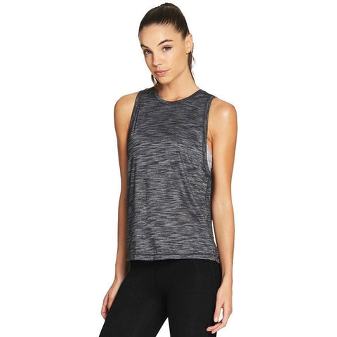 Train Harder II Tank - Heather Black