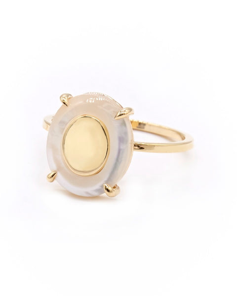 Suma Ring with Mother of Pearl - Prae Store