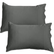 Silk Pillowcase - Twin Set - Charcoal