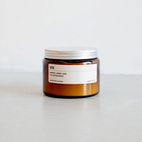 500g Amber Soy Candle - VOS