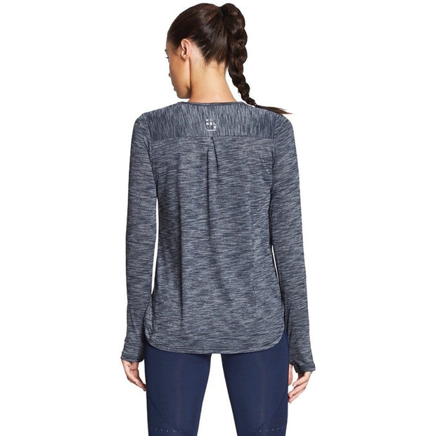 Warming Up Long Sleeve - Heather Navy