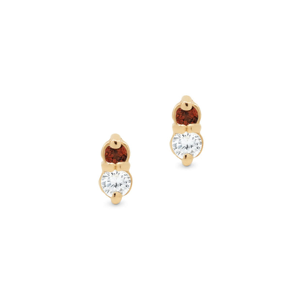 Gold Fire Stud Earrings