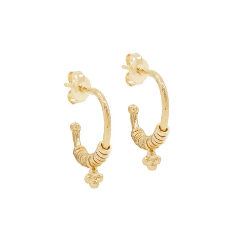 Gold Charmed Hoops - Prae Store