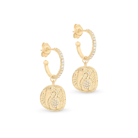 Gold Goddess of Air Hoops - Prae Store