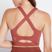 Circuit Breaker Sports Bra - Marsala