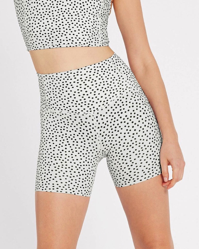 Zoom Bike Short - Polka White