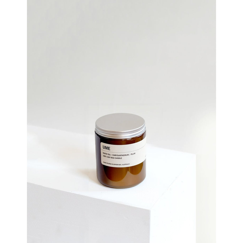 250g Amber Soy Candle - UME - Prae Store