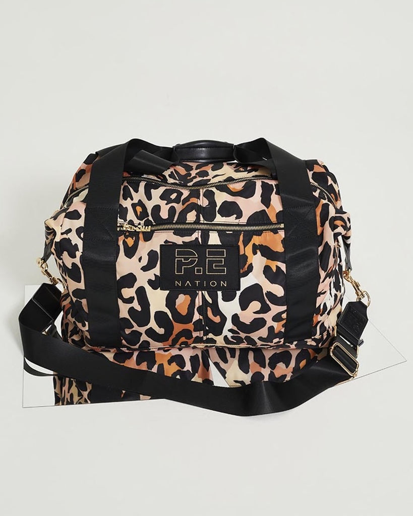 Set Shot Gym Bag in Leopard - Prae Store