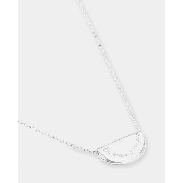 Silver Embrace Your Path Necklace - July