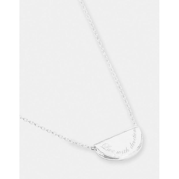 Silver Live With Devotion Necklace - September