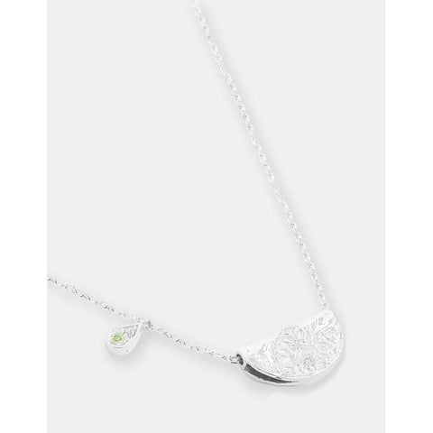 Silver Protect Your Heart Necklace - August