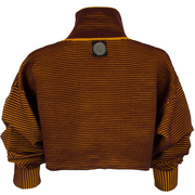 Cropped Rib Sweater - Burgundy l Turmeric