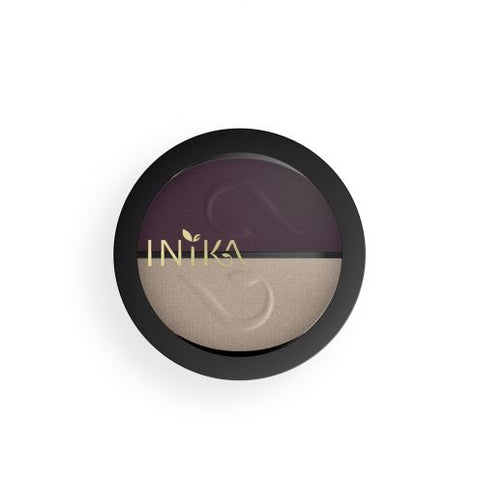 Pressed Mineral Eye Shadow Duo - Plum Pearl - Prae Store
