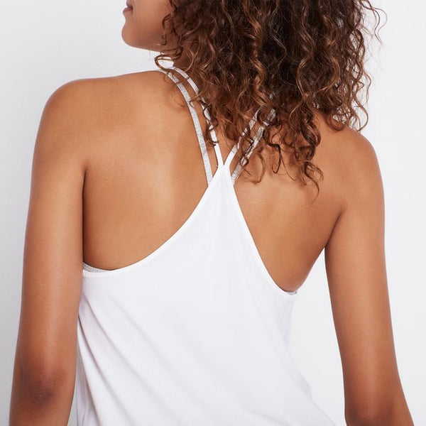 The Barre Tank - White - Prae Store