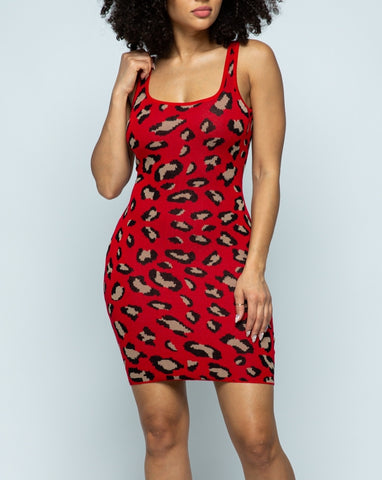 Red Leopard Dress