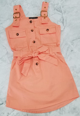 Peach Buckle Dress