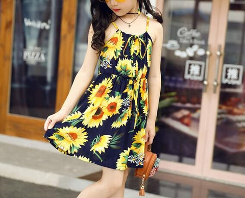 Sunflower Sundress - MW Fashion Apparel