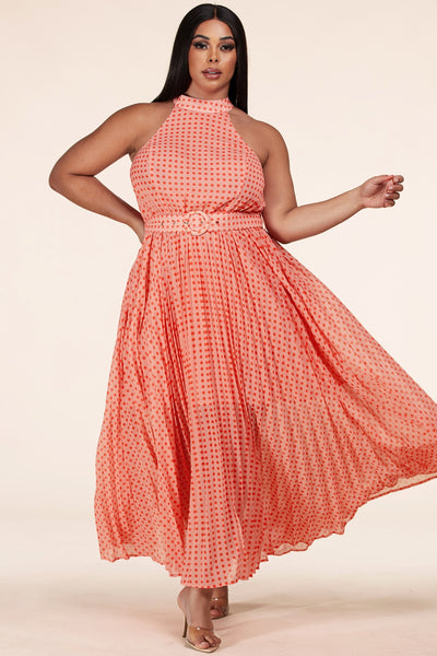 Polka Dot Maxi Dress