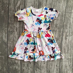 Princess Pattern Dress - MW Fashion Apparel
