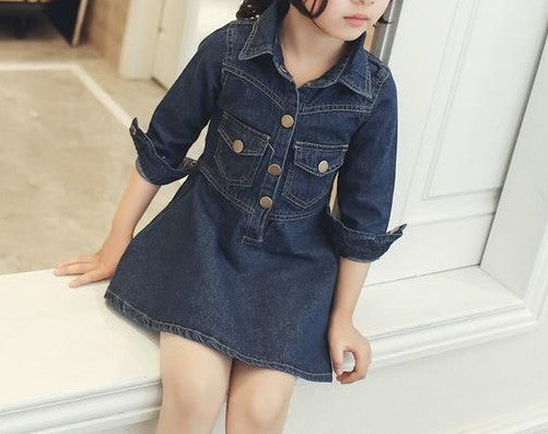 Denim Dress - MW Fashion Apparel