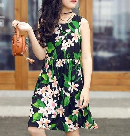 Floral Fashion Dress - MW Fashion Apparel