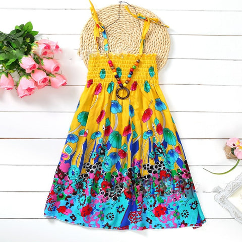Beach Flower Dress - MW Fashion Apparel