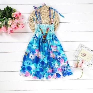 Sky Blue Floral Dress - MW Fashion Apparel