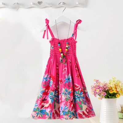 Princess Pink Floral Dress - MW Fashion Apparel