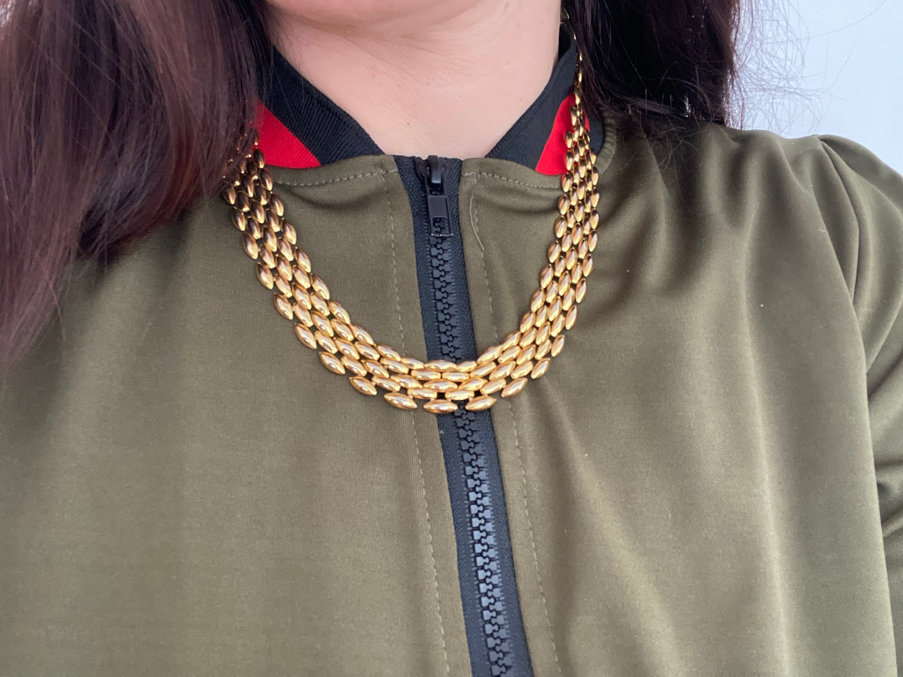Vintage Gold Disco Necklace
