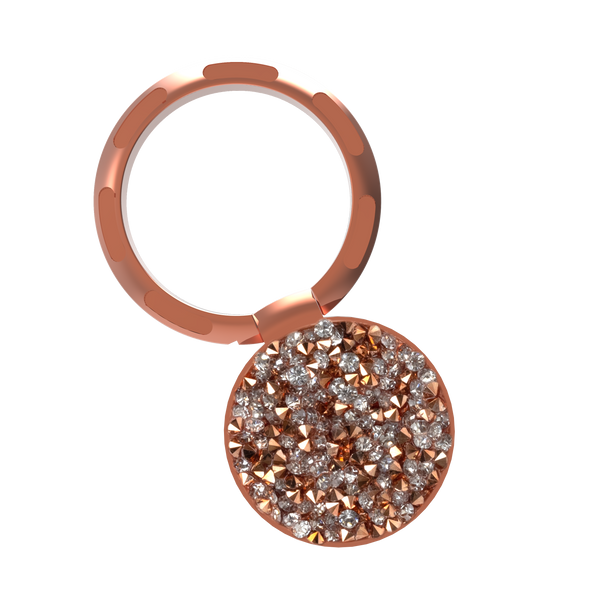 nuckees Trends Ring Grip (Rose Gold Diamond Cluster)
