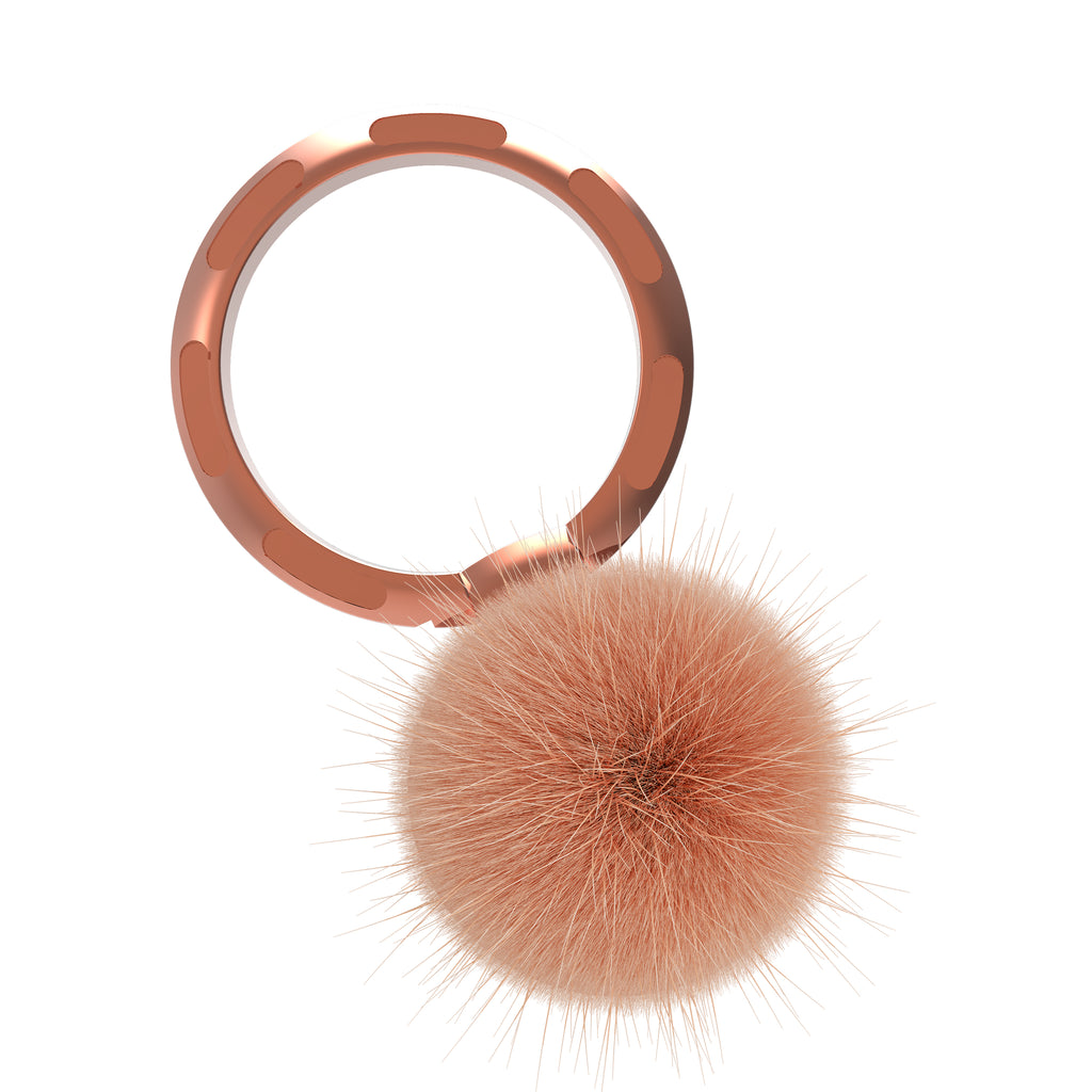nuckees Trends Ring Grip (Rose Gold Pom)