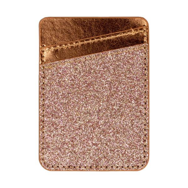 Rose Gold Glitter Smartphone Wallet