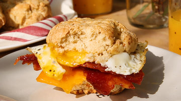 Bacon Jerky Breakfast Sandwich