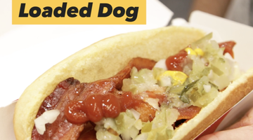 Bacon Jerky Loaded Dog