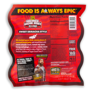 Uncured Bacon Jerky in a Bag 4PK
