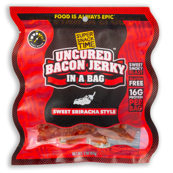 Uncured Bacon Jerky in a Bag