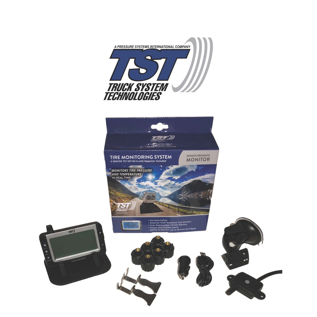 507 Series - 6 RV Cap Sensor TPMS System With Grayscale Display