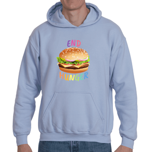 Soft touch large Burger hoodie