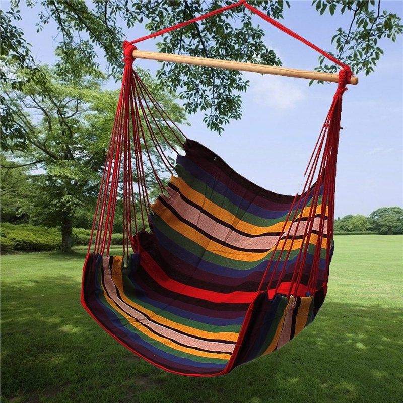 rope with swinging item patio from hammc hanging foot chair garden wood porch swing indoor seat pad hammock portable outdoor in swings cotton