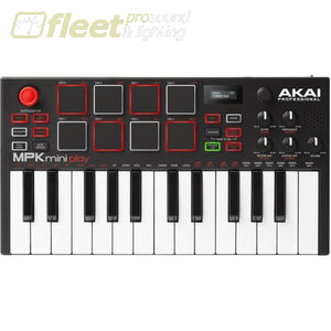 Akai MPKMINIPLAYXUS Compact Keyboard and Pad Controller with Integrated Sound Module MIDI CONTROLLER KEYBOARD