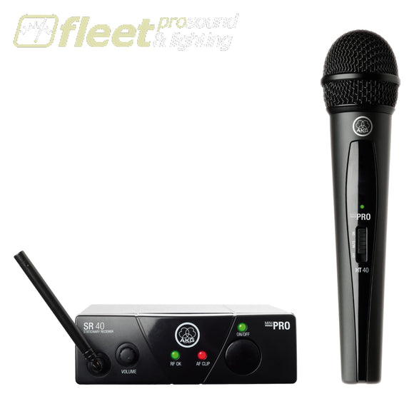 AKG WMS40Mini-Vocal-US25-D Wireless Handheld Microphone System HAND HELD WIRELESS SYSTEMS